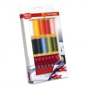 Gutermann Cotton Thread Set with Fabric Clips
