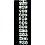 3 Row Crystal Diamante Trim