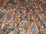 Sequins on Lace Spanish Dress Fabric  Multicoloured