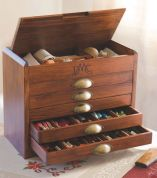 DMC Wooden Collectors Box With Full Range (465) DMC Threads