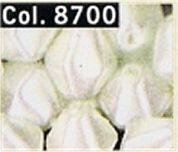 Gutermann Glass Shaped Pearl Craft Beads 8700  Ivory