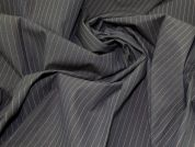 Lady McElroy Rainbow Pinstripe Suiting Fabric  Brown