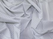 Lady McElroy Cotton Shirting Fabric  Grey & White