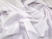 Lady McElroy Cotton Shirting Fabric  Lilac & White