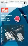 Prym Silver Brooch Pins Sew On & Stick On 27mm  Silver