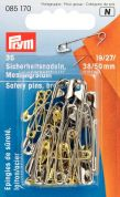 Prym Brass Metal Safety Pins  Gold & Silver