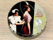 Prym Safety Pins in a Vintage Style Tin Lady & Maid
