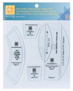 EZ Mini Double Wedding Ring Plastic Quilting Template Set