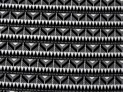 Textured Knit Fabric  Black & White