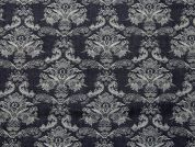 Jacquard Stretch Denim Fabric  Indigo