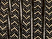 Lurex Textured Knit Fabric  Black & Gold