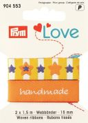 15mm Prym Love Woven Star Ribbon 3m  Yellow