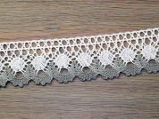 Scalloped Edge Rustic Natural Cotton Lace Trimming