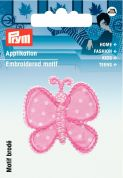 Prym Iron On Embroidered Motif Applique Butterfly