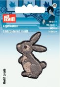 Prym Iron On Embroidered Motif Applique Hare
