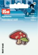 Prym Iron On Embroidered Motif Applique Small Toadstool