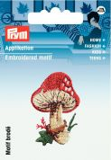 Prym Iron On Embroidered Motif Applique Toadstool