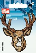 Prym Iron On Embroidered Motif Applique Antlers