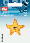 Prym Iron On Embroidered Motif Applique Starfish