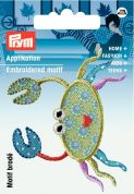 Prym Iron On Embroidered Motif Applique Lobster
