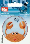 Prym Iron On Embroidered Motif Applique Lobster Patch