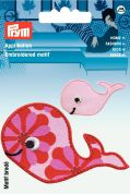Prym Iron On Embroidered Motif Applique Whale