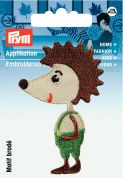 Prym Iron On Embroidered Motif Applique Hedgehog