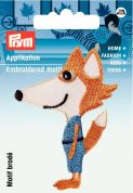Prym Iron On Embroidered Motif Applique Fox
