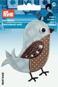 Prym Iron On Embroidered Motif Applique Beige Bird