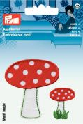 Prym Iron On Embroidered Motif Applique Toadstools
