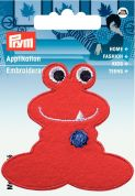 Prym Iron On Embroidered Motif Applique Red Monster