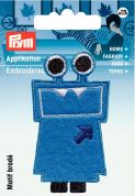 Prym Iron On Embroidered Motif Applique Blue Monster