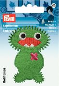 Prym Iron On Embroidered Motif Applique Green Monster