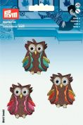 Prym Iron On Embroidered Motif Applique Owl