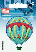 Prym Iron On Embroidered Motif Applique Hot air Balloon