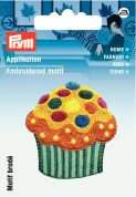 Prym Iron On Embroidered Motif Applique Multicoloured Cupcake