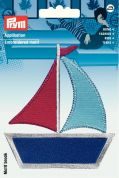 Prym Iron On Embroidered Motif Applique Sailing Ship