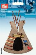 Prym Iron On Embroidered Motif Applique American Indian Tipi