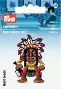 Prym Iron On Embroidered Motif Applique Multicoloured American Indian