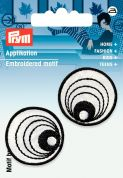Prym Iron On Embroidered Motif Applique Black & White Eyes