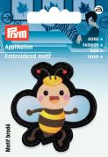 Prym Iron On Embroidered Motif Applique Black & Multicoloured Bee