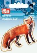 Prym Iron On Embroidered Motif Applique Brown Fox Photoart