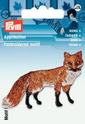 Prym Iron On Embroidered Motif Applique Brown Fox