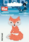 Prym Iron On Embroidered Motif Applique Orange Embroidered Fox