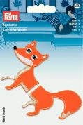 Prym Iron On Embroidered Motif Applique Separable Orange Fox