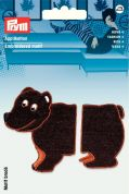 Prym Iron On Embroidered Motif Applique Separable Brown Bear