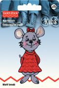 Prym Iron On Embroidered Motif Applique Red Mouse