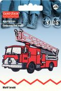 Prym Iron On Embroidered Motif Applique Red Fire engine