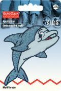 Prym Iron On Embroidered Motif Applique Happy Dolphin
