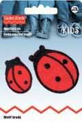 Prym Iron On Embroidered Motif Applique Small & Large Ladybird